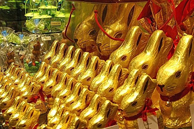 Знаменитые шоколадные пасхальные зайцы Lindt