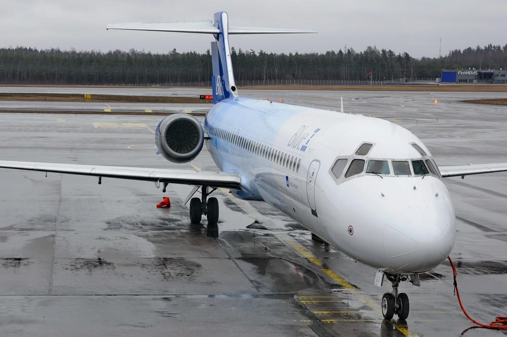 Боинг-717 авиакомпании SAS/Blue1 в аэропорту Вантаа