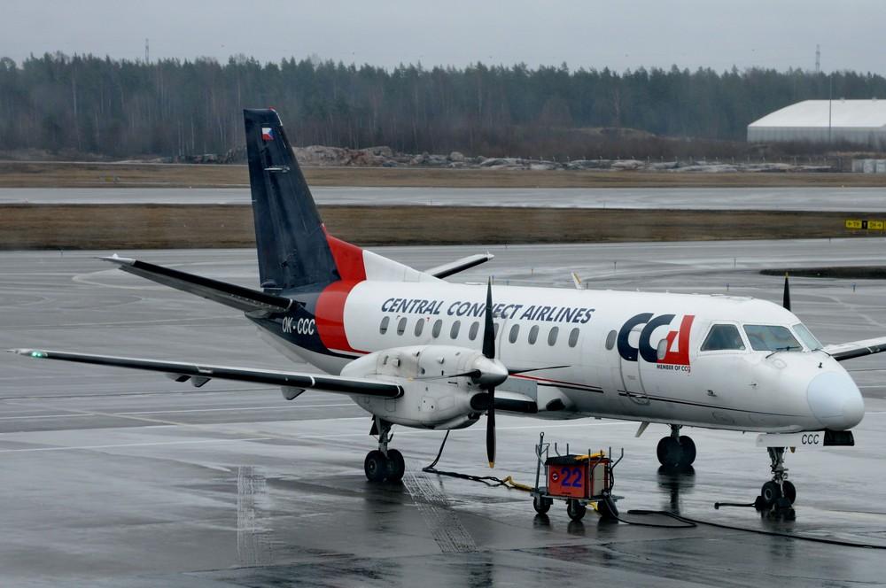 Saab-340 Central Connect Airlines в аэропорту Хельсинки