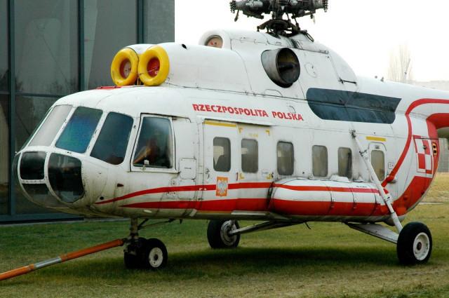 Правительственный Ми-8 в Музее авиации Польши
