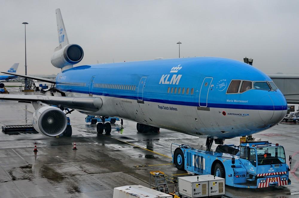 MD-11 авиакомпании KLM Maria Montessori в аэропорту Амстердама