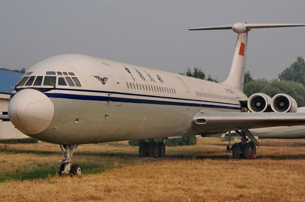 Самолет Ил-62 в китайском авиационном музее