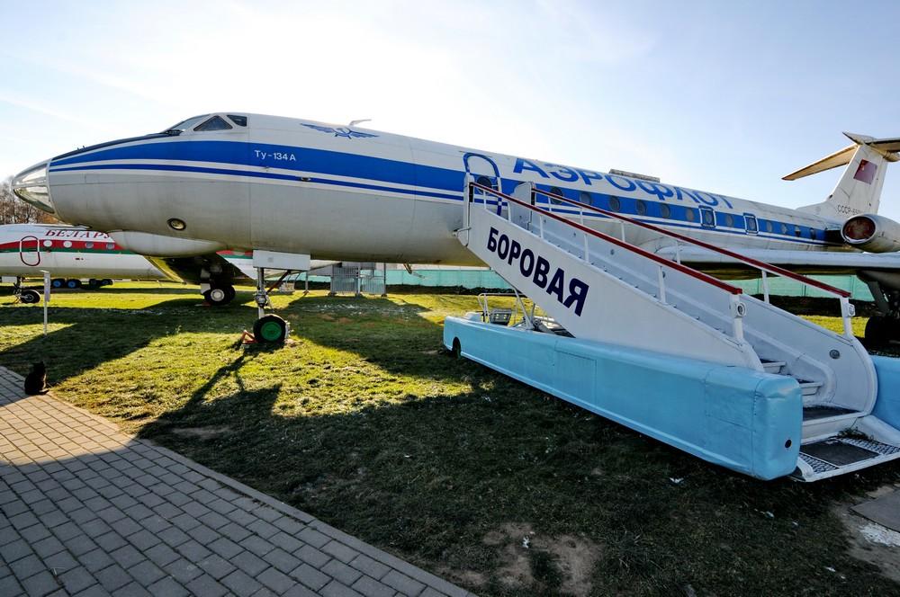 Самолет Ту-134А в музее Боровая