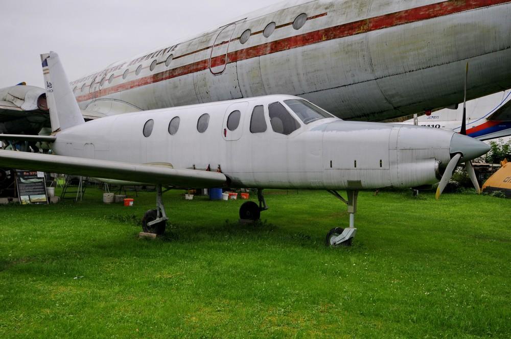 Самолет Ае-270 в музее авиации в чешском Пльзне