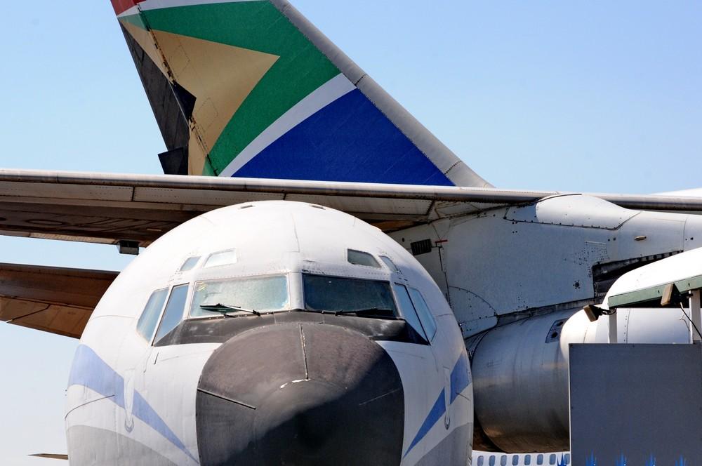 Музей авиации в аэропорту Рэнд в Йоханнесбурге. Кабина Боинга-707 и Боинг-747