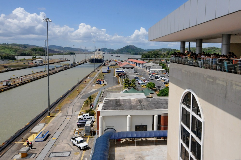 Lookout Miraflores Locks, Panama Canal