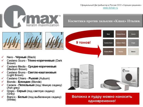 Kmax набор кератиновые волокна и пудра_1