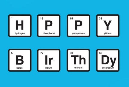 Happy Birthday Periodic table 3