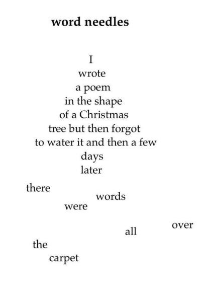 Christmas tree poem