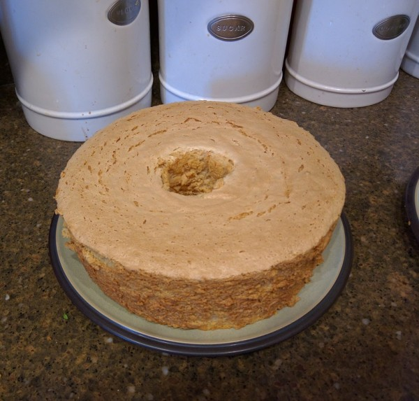 Uncut Toasted Sugar Angel Food Cake