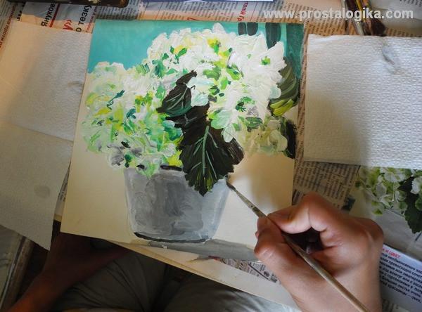 гортензия в живописи: