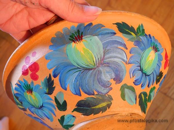 Об искусстве - Старая глиняная тарелочка и Петриковская роспись