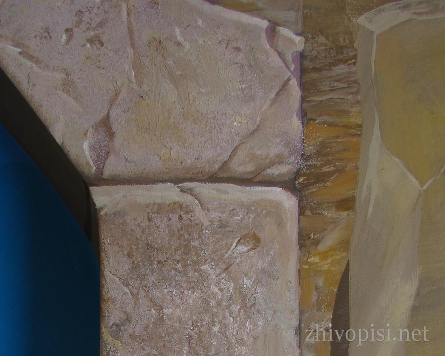 роспись-камень с трещинами