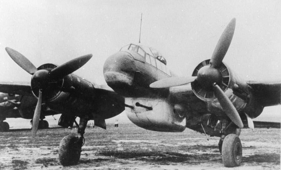 Две пушки BK 3.7 на Ju.88P