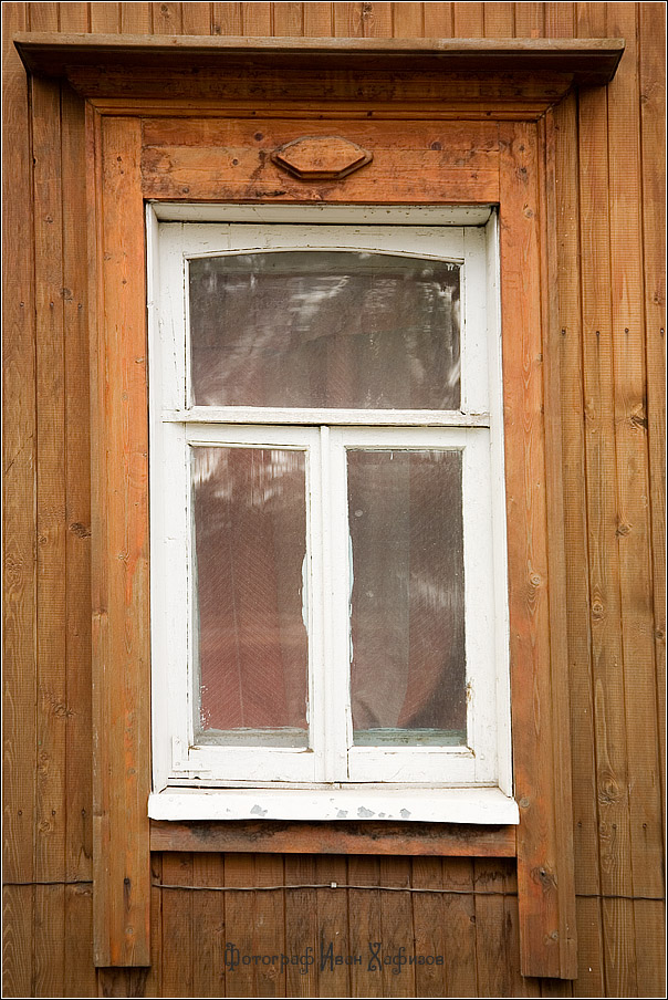 Резной деревянный наличник города Дмитрова