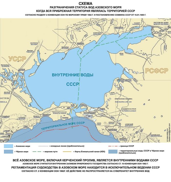 статус Азовского моря СССР