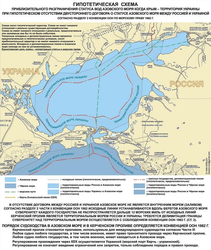 статус Азовского моря Крым украинский без договора