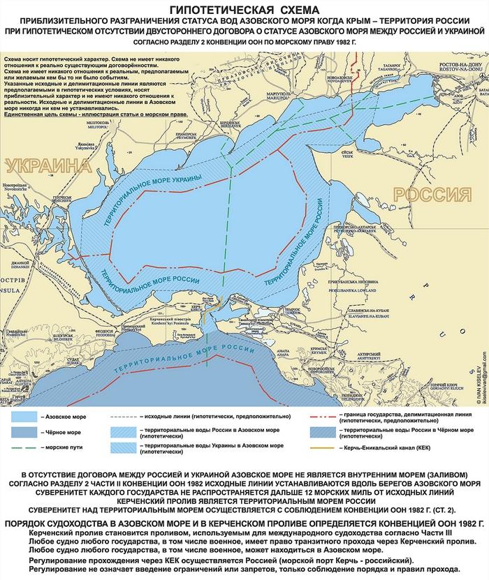 статус Азовского моря Крым российский без договора
