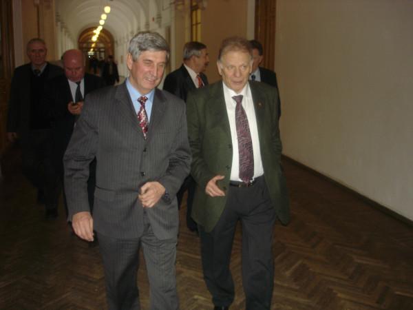 С Жоресом Алферовым в вузе