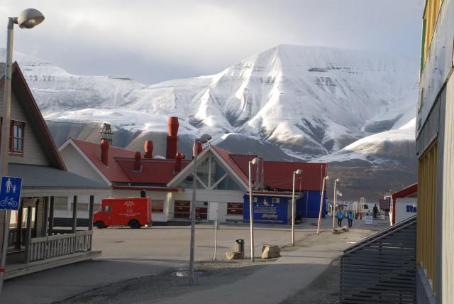 Longyearbyen at summer night (August)