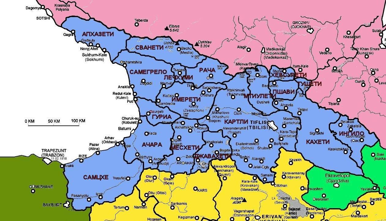 Картинки грузия карта