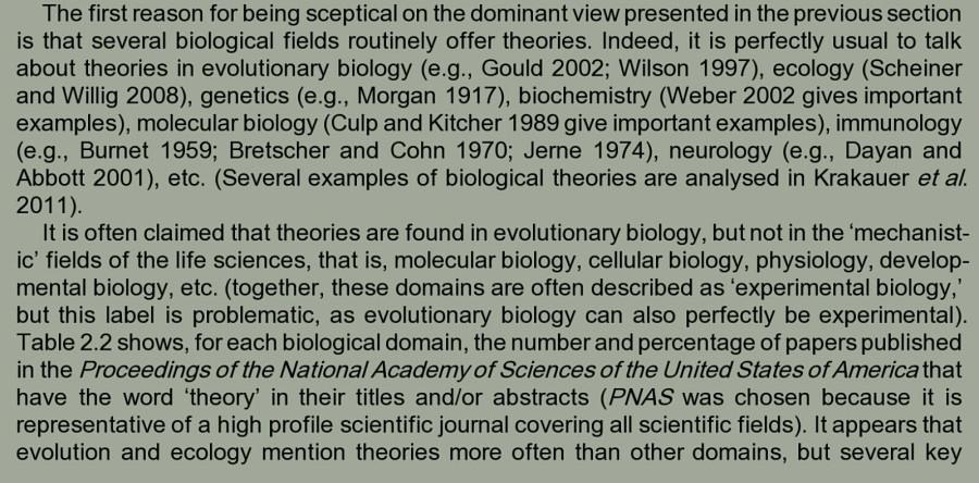 Pradeu 2014 о биол теориях1