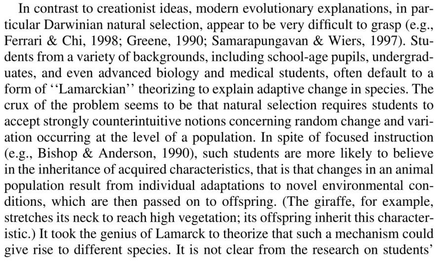 Evans e.m. creation vs. Evolution