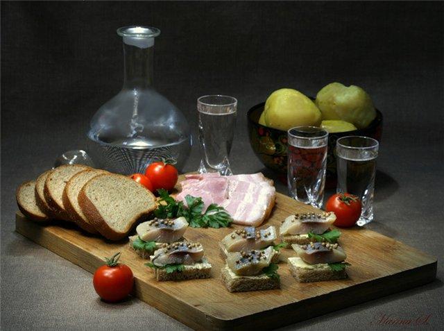 vodka-seledka-zakuska-hleb-eda