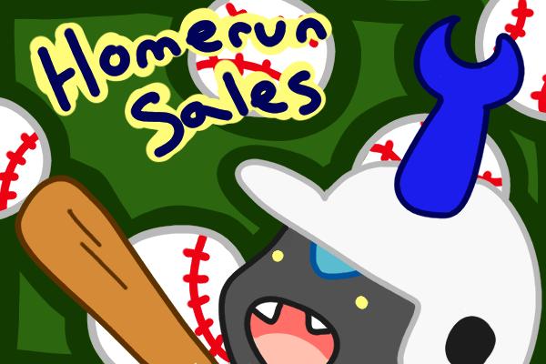 Homerun Sales New baseballs colored