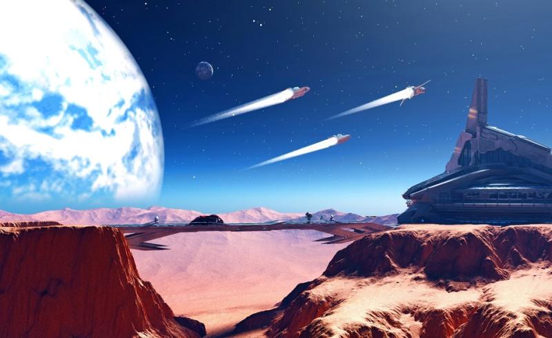 mars-planet-spaceships