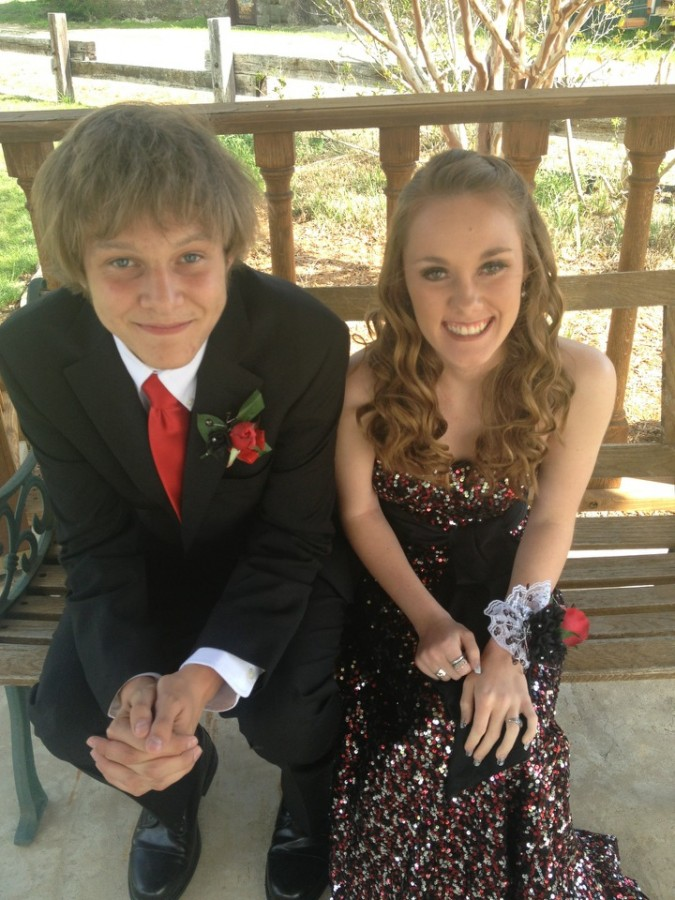 Ian and Sadie before prom
