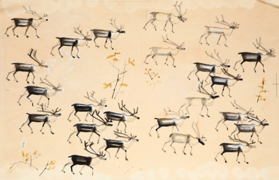 Г.-Снегирев-«Про-оленей».-М.-«Детская-литература»-1967.-Форзац-1024x662