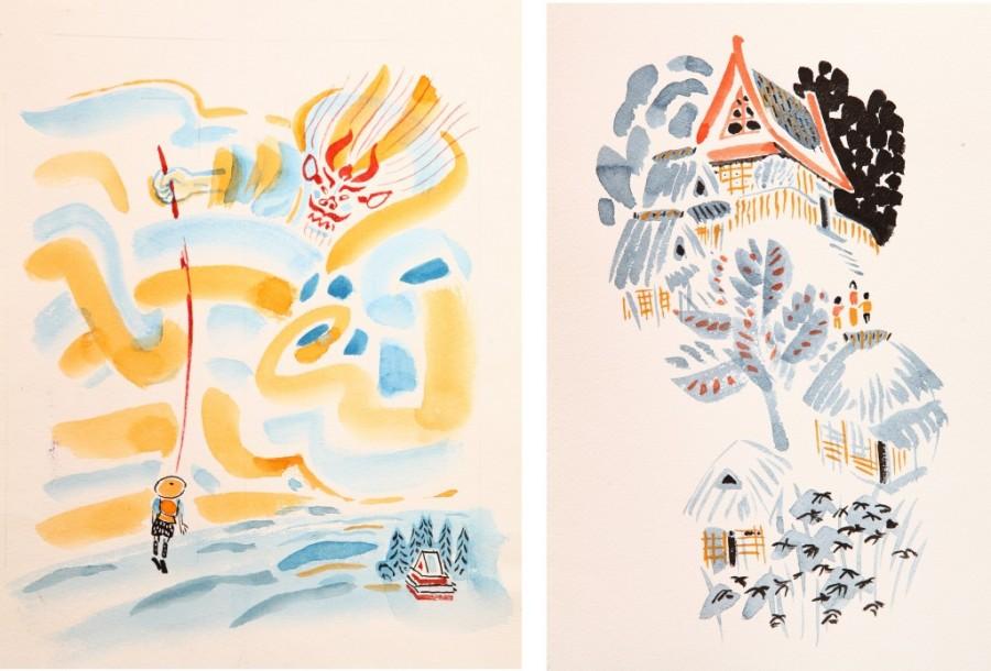 «Японские-народные-сказки».-М.-«Детская-литература»-1983.-Иллюстрация_1-1024x695