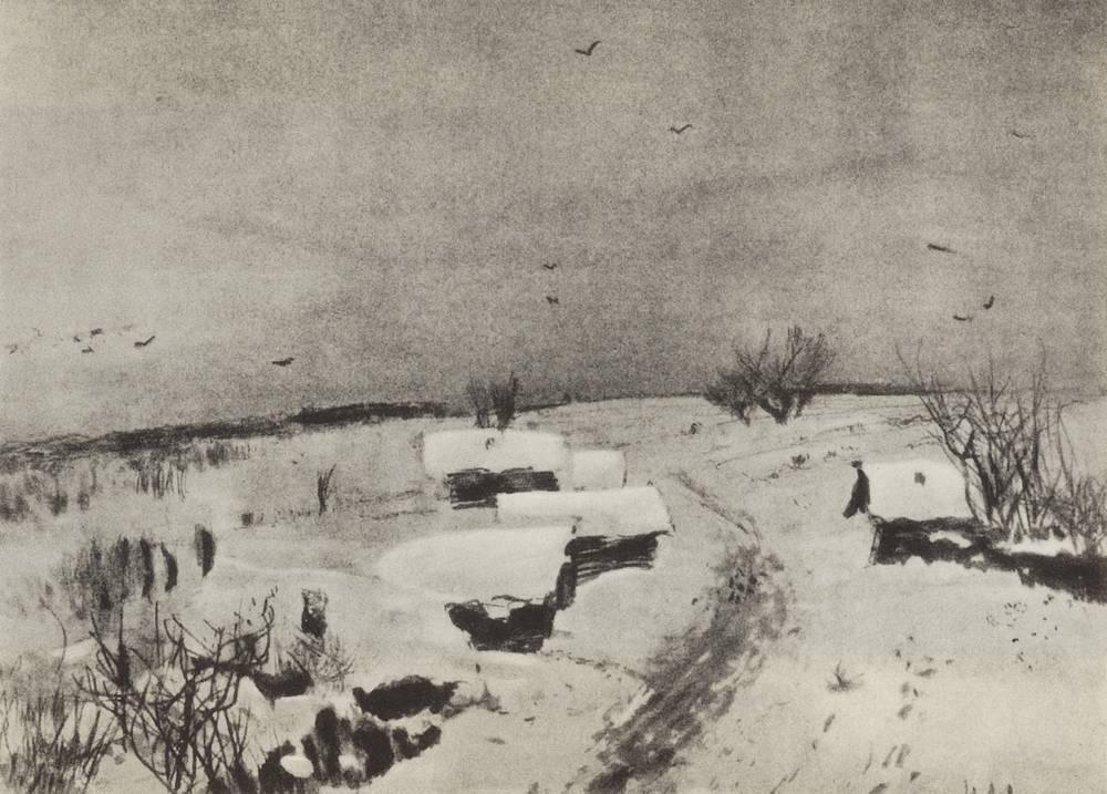 Деревенька-под-снегом.-1880-е-годы