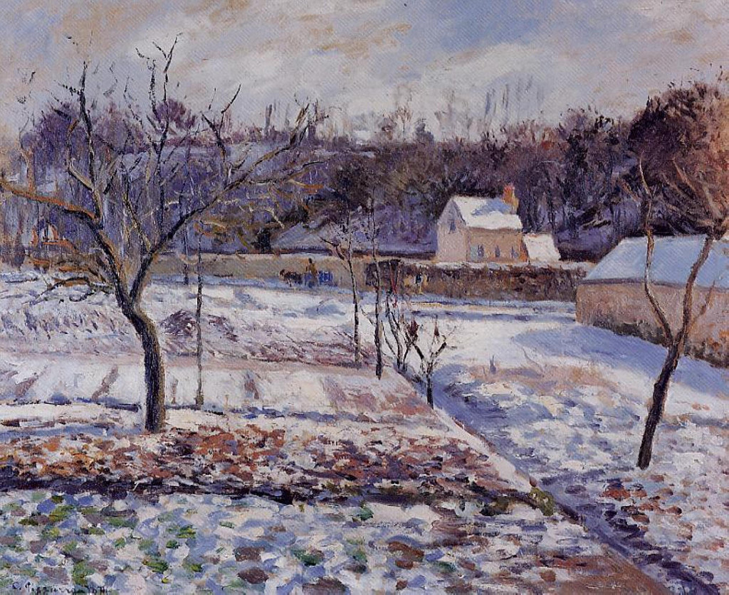 l-hermitage-pontoise-snow-effect-1874  Fogg Art Museum, Cambridge, Massachusetts, USA.jpg