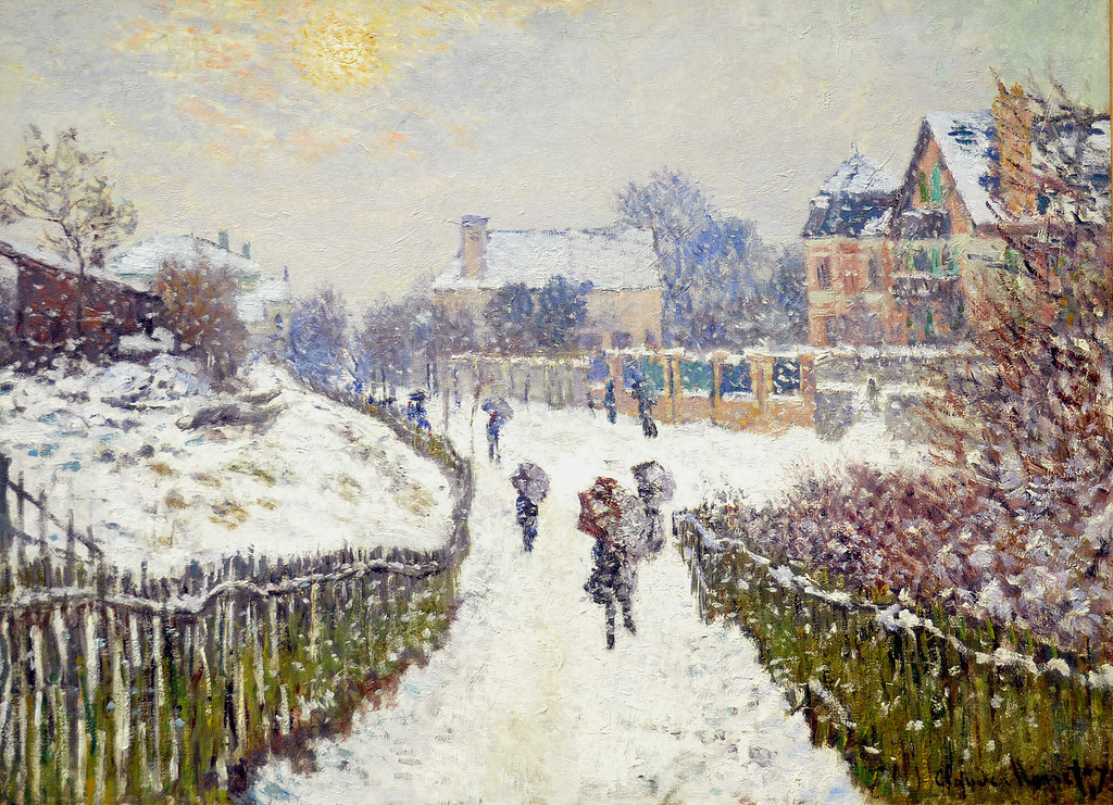 Бульвар Сен-Дени, Аржантёй, зима 1875г  81х60 Museum of Fine Arts, Boston, MA, USA.jpg