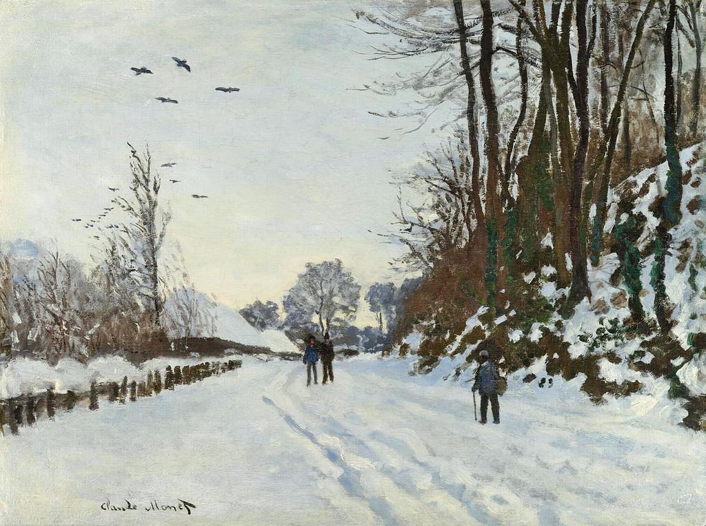 Дорога на ферму Сен-Симон зимой 2.  1867г.jpg