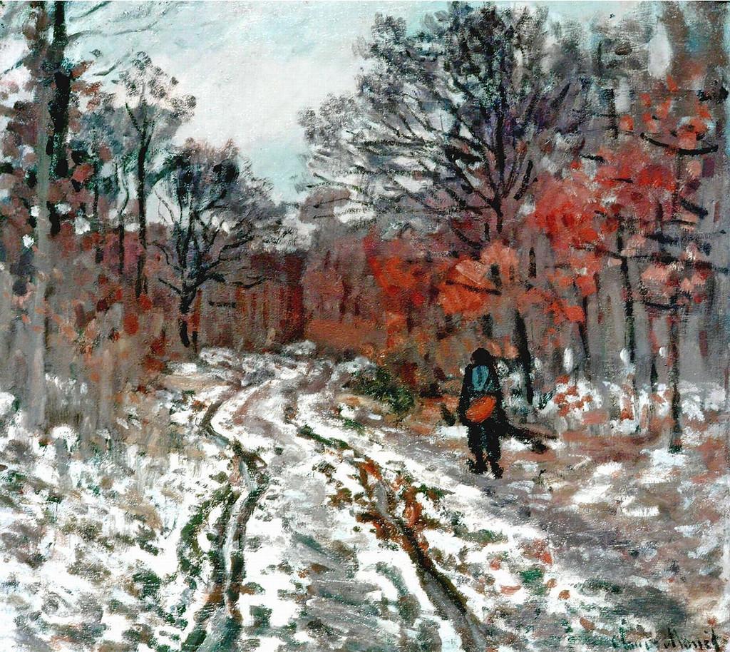 Тропинка в лесу. Эффект снега. 1870г.jpg