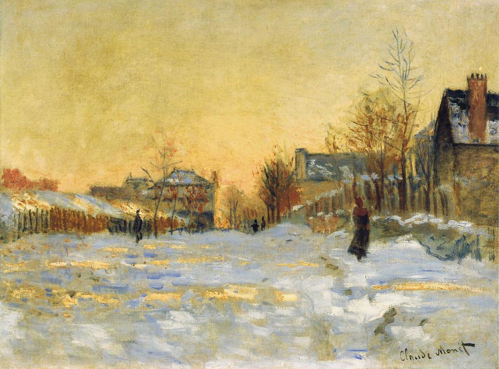 Снежный эффект, улица в Аржантёе 1875г.jpg