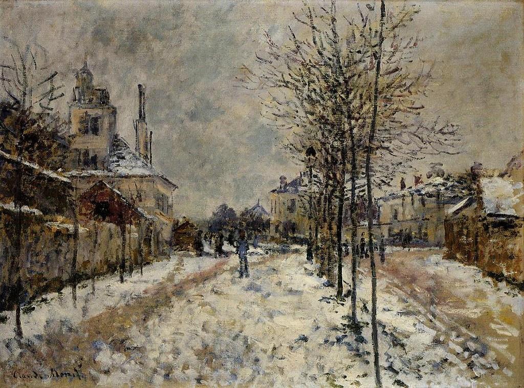 Снежный эффект, Бульвар де Понтуаз в Аржантёе 1875г.jpg