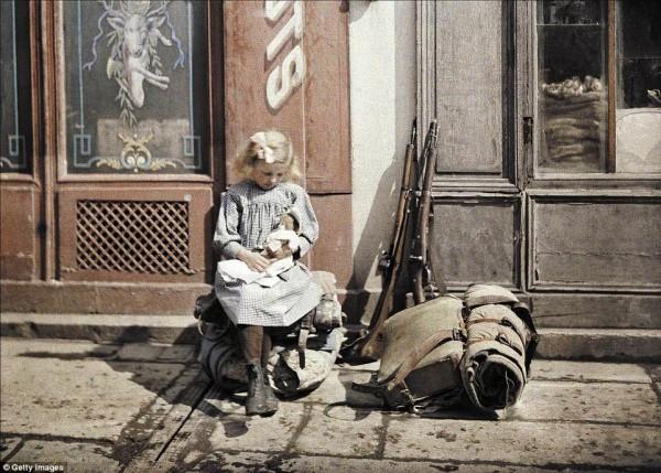 первая мировая в кадрах. одни из первых цветных фотокамер