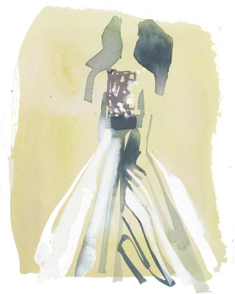 Carolina Herrera Sweep Gown