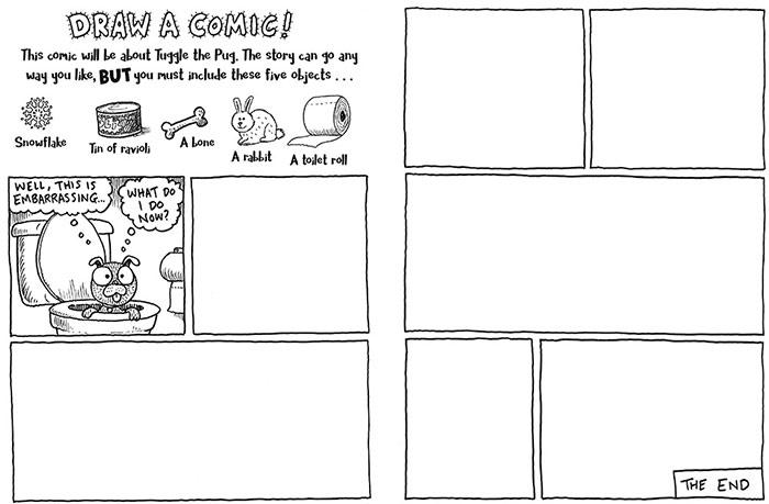 pug a doodle do draw your own pug comic jabberworks