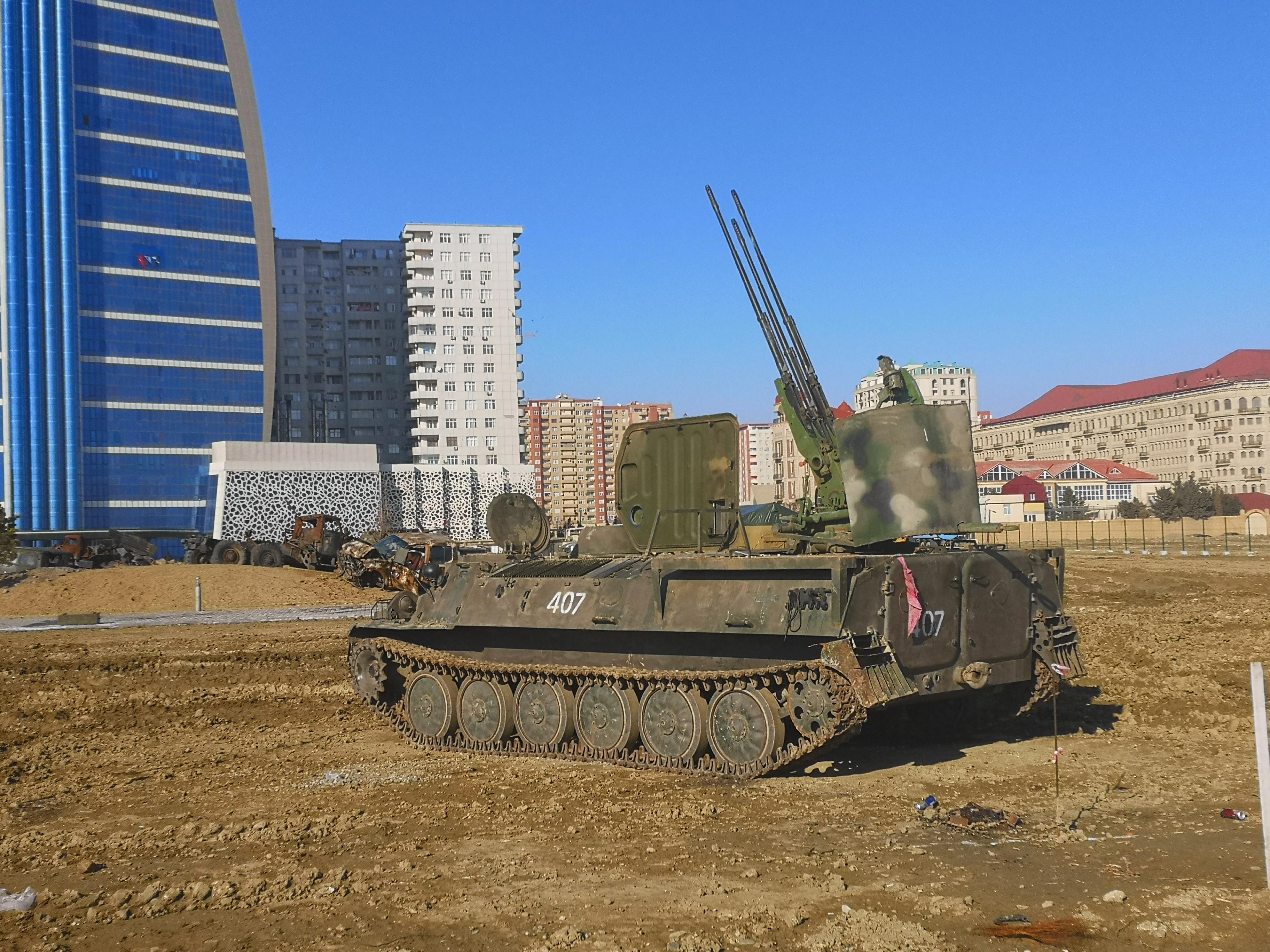 Готовящаяся выставка трофейной техники Второй Карабахской войны