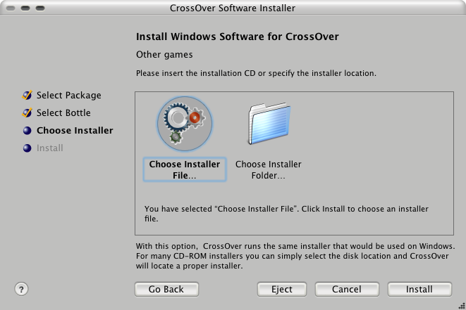 How to install COH inside Crossover Games under macosx