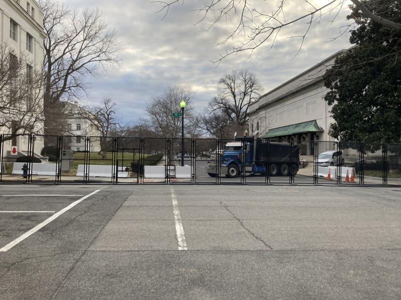 Barricade near the DAR building