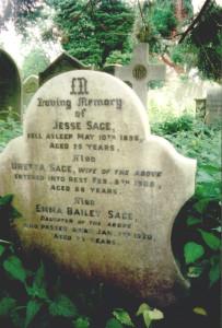 Sage Grave in  A Sage gravestone in Pensford