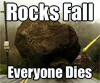 rocks fall icon