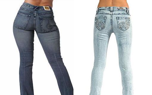 Девушки в джинсах с зади фото