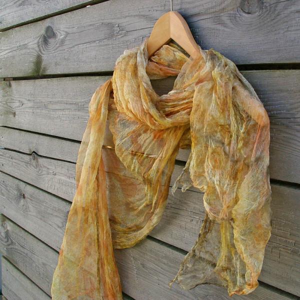 шелковый шарф, натуральное крашение